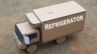 How to Make a Refrigerator Truck from Cardboard - Amazing Truck DIY