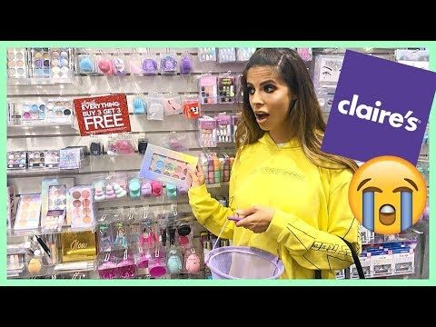 FULL FACE OF CLAIRES  MAKEUP | KID MAKEUP