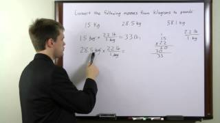 HiSET Test - Free Math Review - Finding Pound Mass in Kilogram