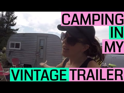 Camping in the Eastern Sierra in a Vintage Canned Ham Travel Trailer