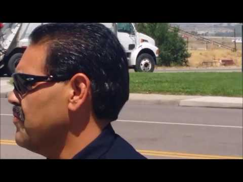 COP FALLS ON FACE, UNLAWFULLY CHASES AND TAZERS PEACEFUL PROTESTER, COMMERCE CITY, CO