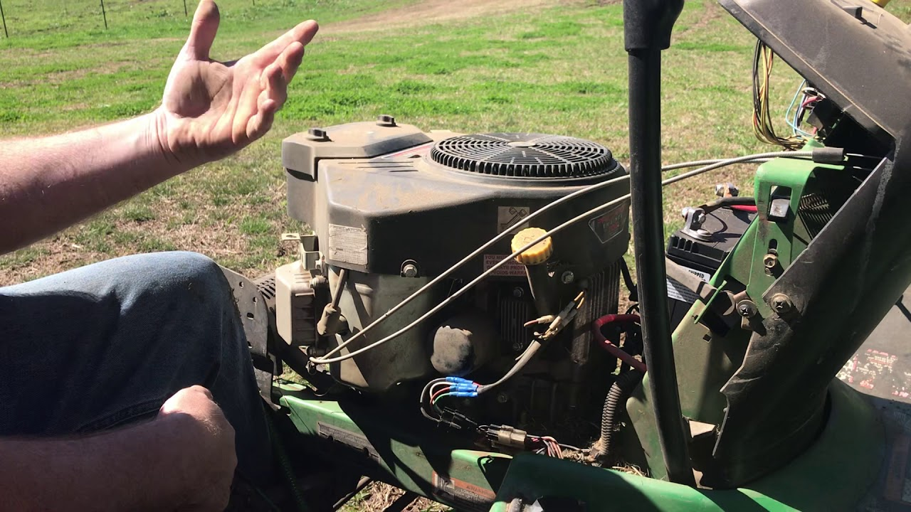 Harbor Freight Predator engine wire up on Deere 235 and LX mowers on