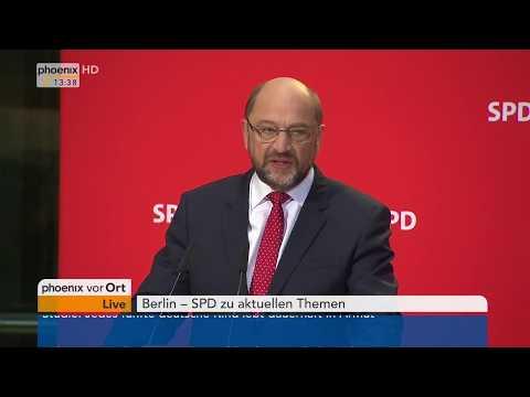 Martin Schulz und Lars Klingbeil nach der SPD-Präsidiumssitzung am 23.10.17