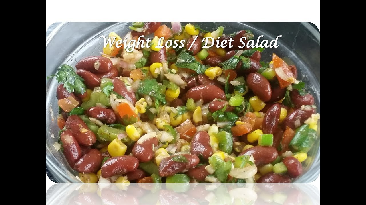Red Kidney Beans Salad Diet Weight Loss Salad Healthy Kidney Beans Sweet Corn Salad Youtube