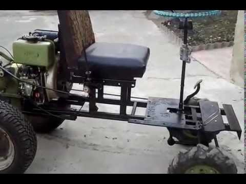 минитрактор из мотоблока зубр рулевое управление