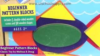 Beginner Pattern Blocks Classic Toy By Melissa & Doug 528