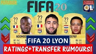 FIFA 20   OLYMPIQUE LYON PLAYER RATINGS!! FT. FEKIR, DEPAY,NDOMBELE ETC..(TRANSFER RUMOURS INCLUDED)