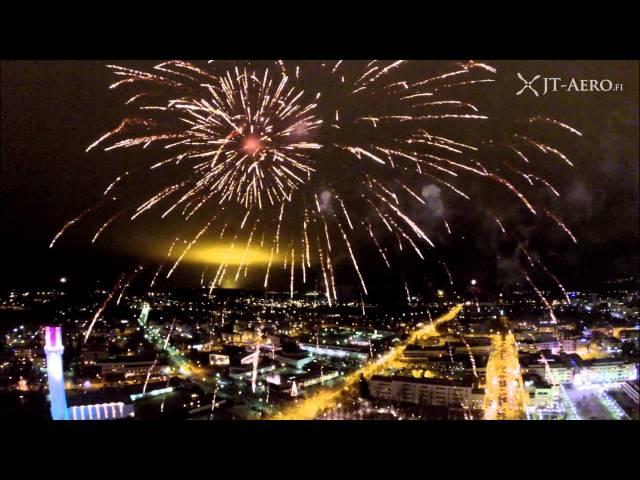 Seinäjoen kaupungin uudenvuoden ilotulitus 2016 - JT-Aero