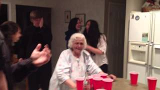 Nana Makes Epic Celeb Shot Beer Pong