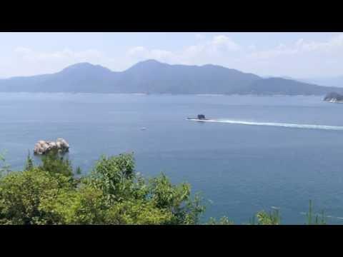 Collins-class submarine HMAS Rankin in Hirosima bay, Japan 2016. 5. 20