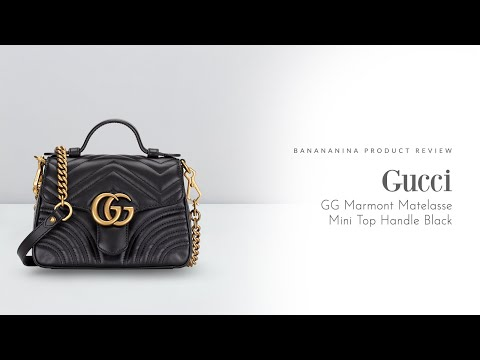 Banananina Product Review: Gucci GG Marmont Matelasse Mini Top Handle Black