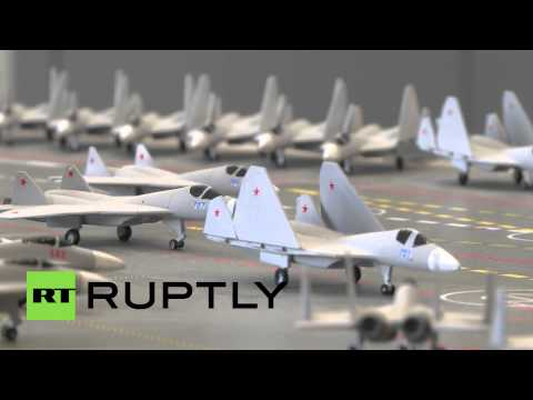 Russia: Mistral replacement? Storm Supercarrier model unveiled in St Petersburg