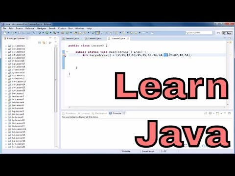 Lesson 3 - Mastering Java - Search For The Max And Min Value