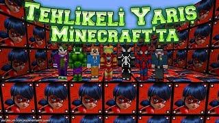 Minecraft'ta Tehlikeli Şans Blokları Yarışması Bütün Süper Kahramanlar Yarışmada