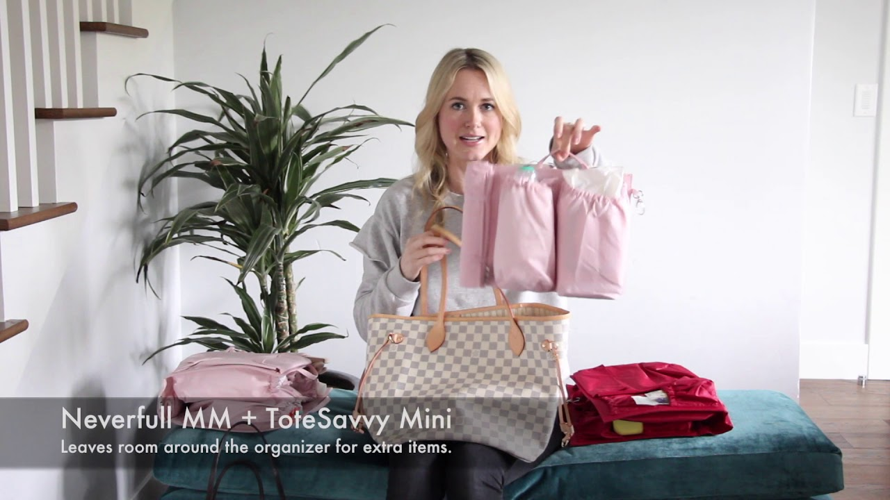 d39d383474eb LV Neverfull GM and MM as a Diaper Bag with ToteSavvy - YouTube