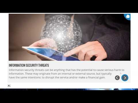 Information Security and Cyber Security E-Learning Staff Awareness