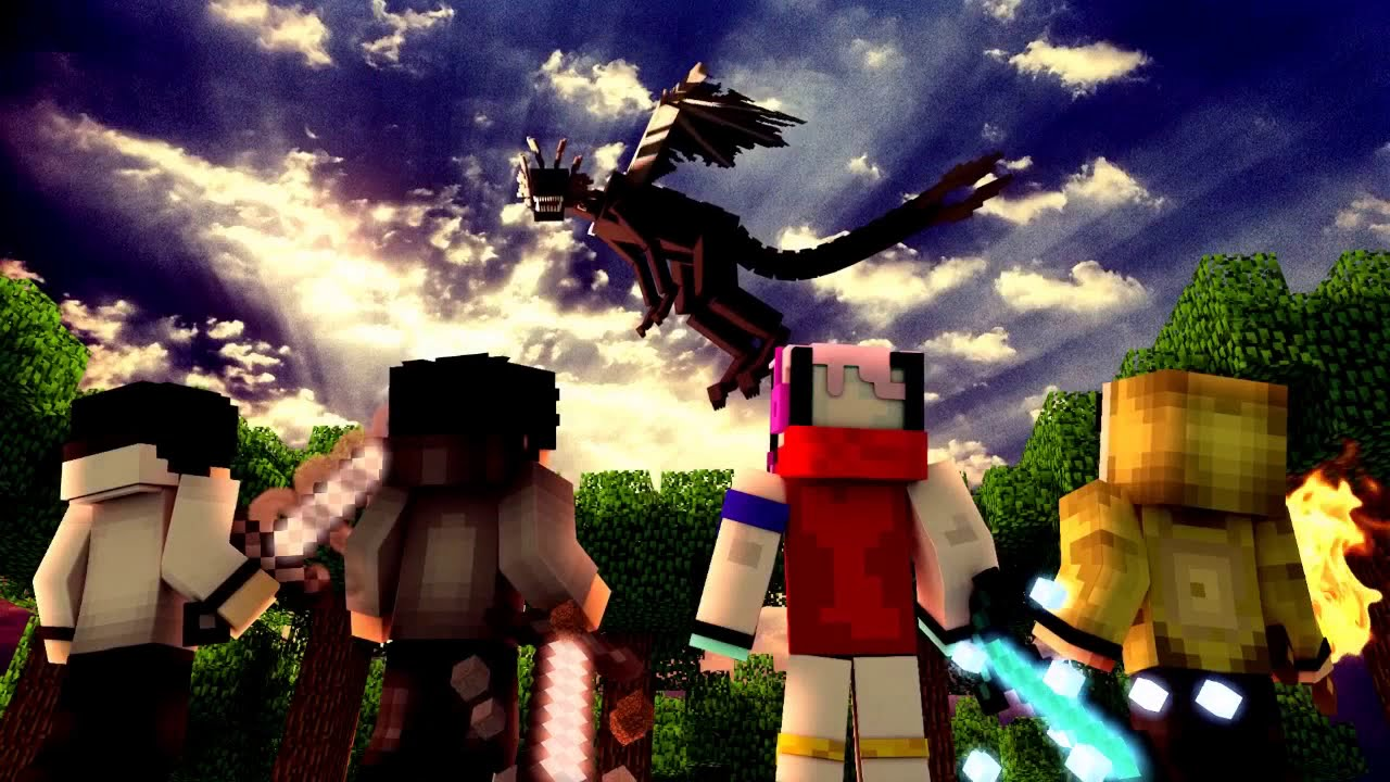 4Brothers Vs EnderDragon Speed Art Wallpaper Engine
