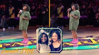 Just Like Mom! Erica Campbells Daughter Krista Sings National Anthem For WNBA Game YouTube Videos