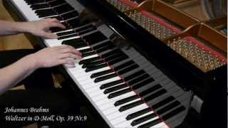 J. Brahms - Waltzer in d-Moll - Op. 39 / Nr. 9 - Piano (Steinway - HD)