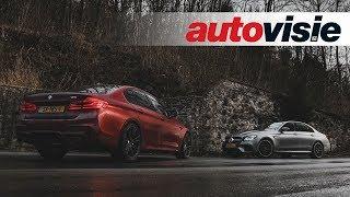 BMW M5 vs. Mercedes-AMG E 63 S (2018) - Test - Autovisie TV