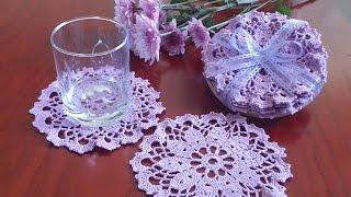 Вязаная салфетка под стакан/ Crochet Coaster.  Вязание крючком для начинающих.(, 2016-07-16T00:10:13.000Z)