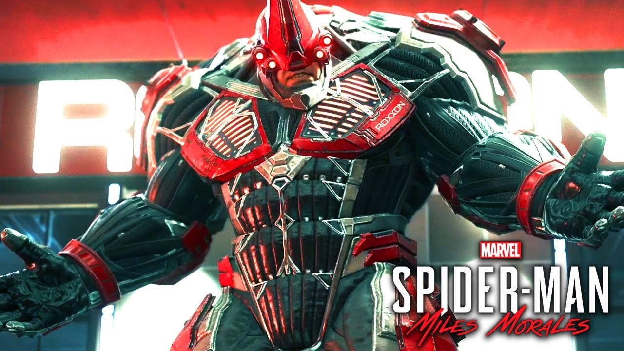 Spider-Man: Miles Morales Red Rhino Full  Fight 1080p 60FPS