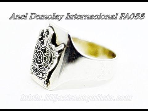 c0ff1cc5cb2 Anel Demolay Internacional Prata SCODB - FA053 - YouTube