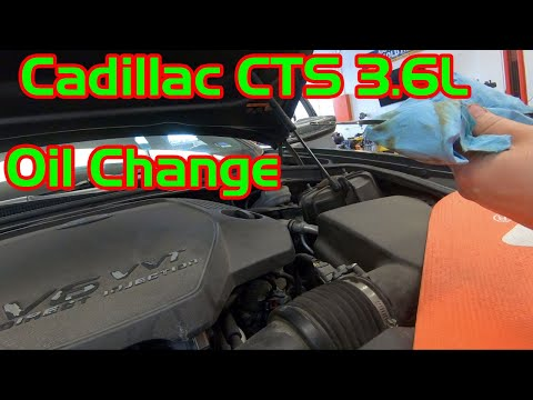 2014-2019 Cadillac CTS 3.6 Oil Change