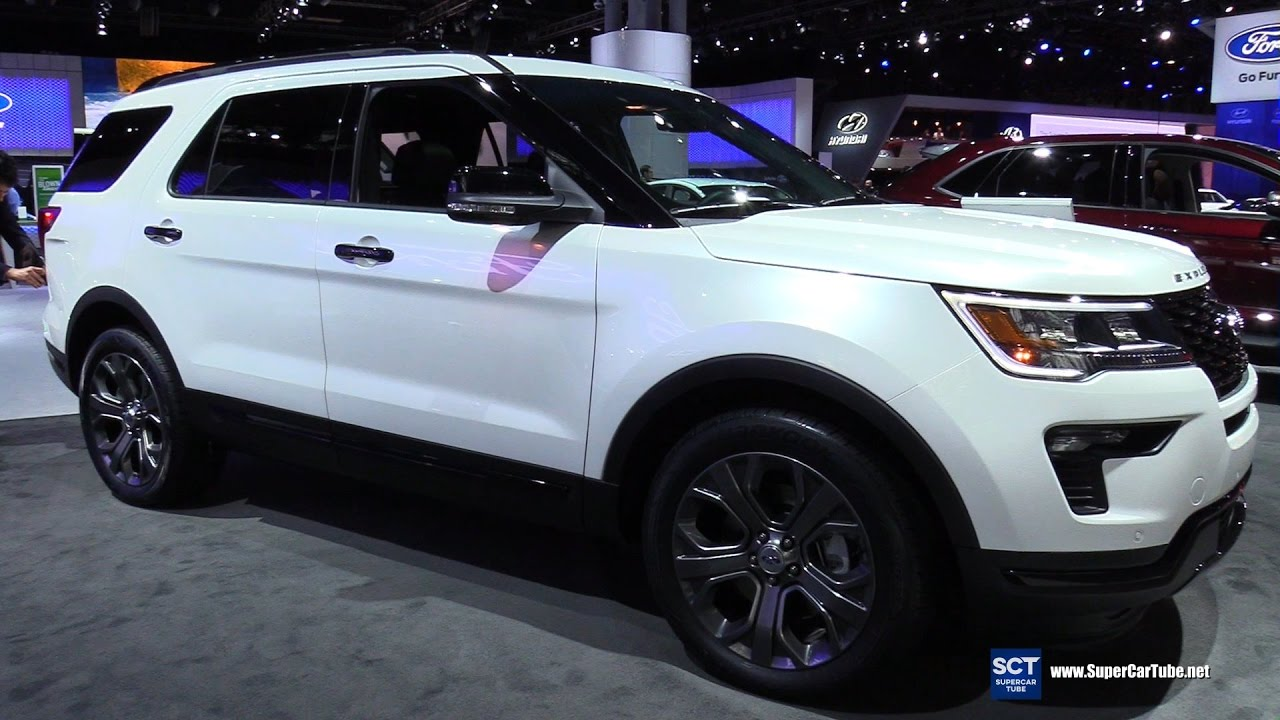 2018 Ford Explorer Sport Exterior And Interior Walkaround Debut At 2017 New York Auto Show