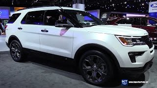 2018 Ford Explorer Sport - Exterior and Interior Walkaround - Debut at 2017 New York Auto Show