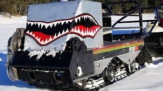 Track Shark - Homemade Motorized Tracked Fishing Sled