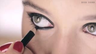 Создаём дымчатый макияж ресниц, глаз.