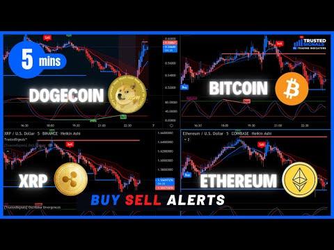 Bitcoin Dogecoin Ethereum XRP Signal Alerts - LIVE 5 MIN CHART