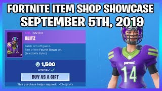 NFL SKINS ARE BACK! (Fortnite Item Shop 5th September)
