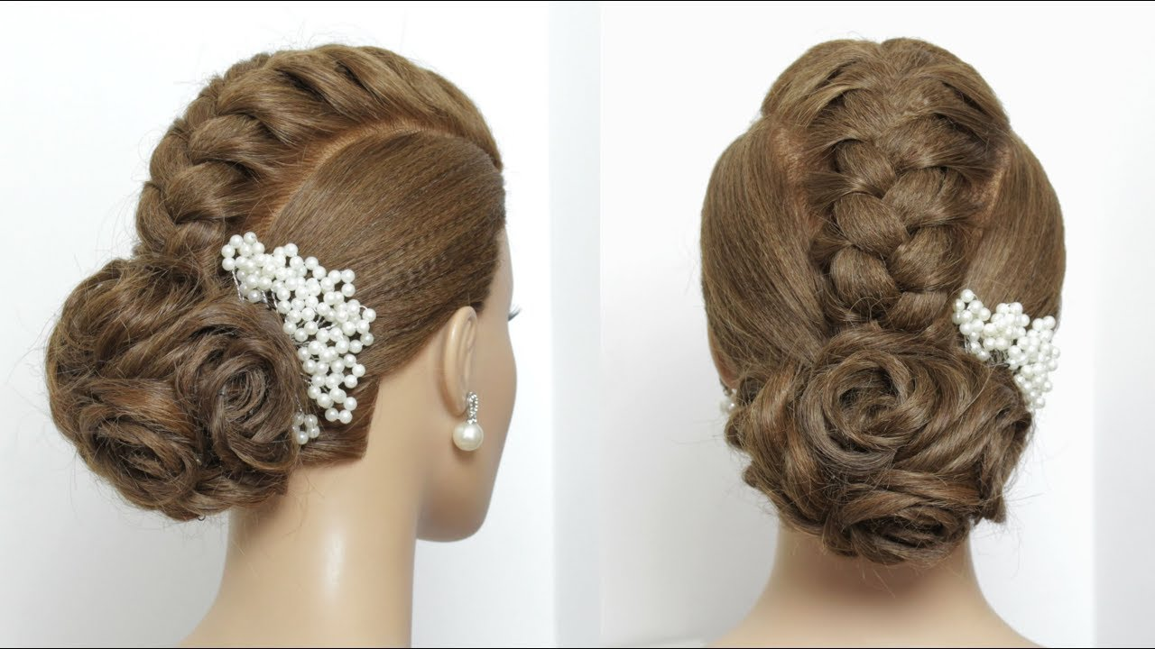Beautiful Hairstyle For Party. Simple Hair - YouTube