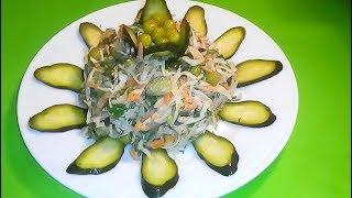 САЛАТ ИЗ КАПУСТЫ.  Рецепт салата из капусты и огурцов маринованных.