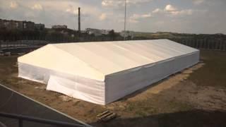 Шатёр 30х15 метров, крыша ПВХ стены тканевые, шатры пвх, тенты пвх(Шатёр 30х15 метров, высота по стенке 2,5 метра, устанавливался в качестве временного склада для инвентраря,..., 2014-01-08T22:03:49.000Z)