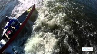Canoes on River Eden in Carlisle