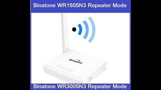 Binatone WR1505N3 Repeater Mode Configuration