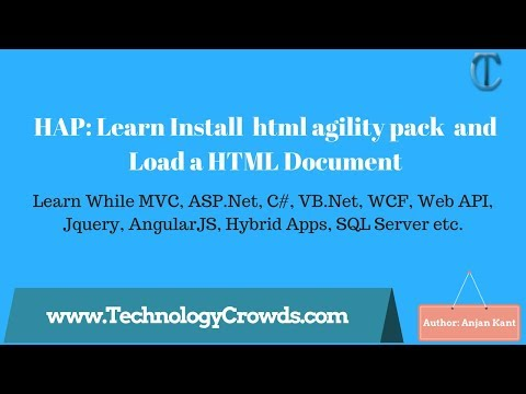 HAP: Learn Install  Html Agility Pack  And Load A HTML Document