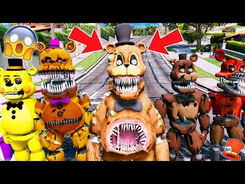 BRAND NEW FREDDY! TWISTED FREDDY ANIMATRONIC! (GTA 5 Mods For Kids FNAF RedHatter)
