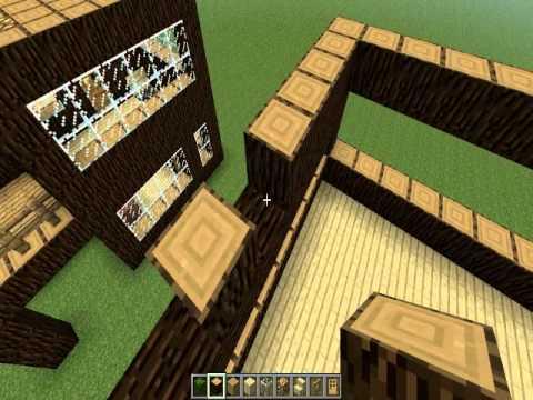 Minecraft casa r stica moderna casa 1 youtube for Casa moderna rustica