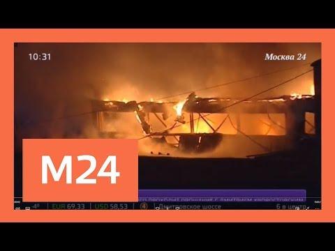 5 Gelandewagen сгорели при пожаре в автосервисе на западе Москвы