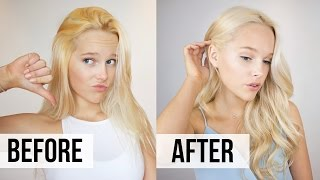 How to Fix Brassy Hair - At Home Toner Tutorial
