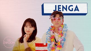 Ji Chang-wook and Kim Ji-won play Jenga [ENG SUB]