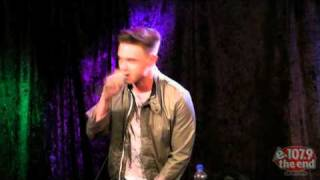 "Jesse McCartney performing ""Shake"" live at 1079 The End"