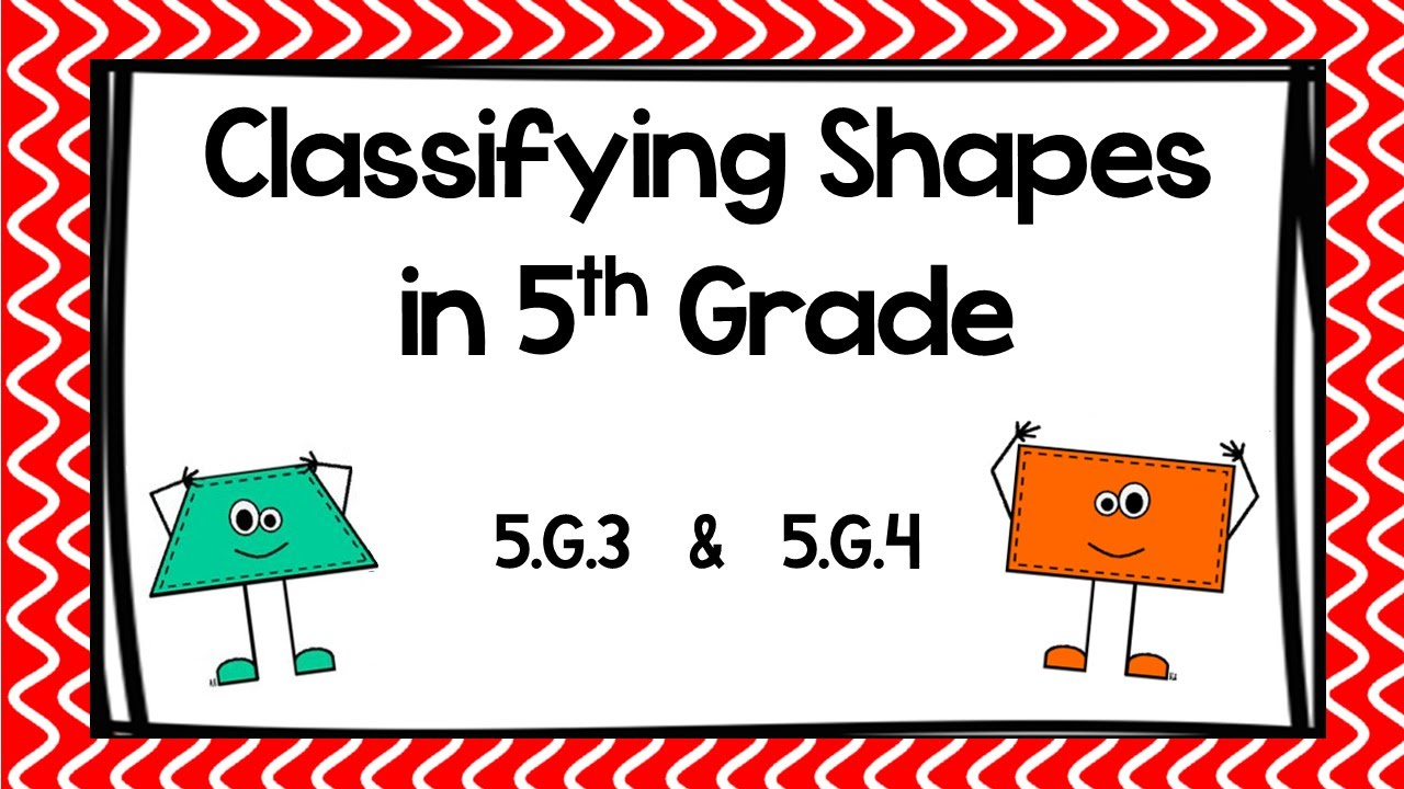 classifying 2d shapes 5th grade worksheet