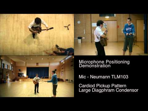 Recording Acoustic Guitars - Mic position demonstration