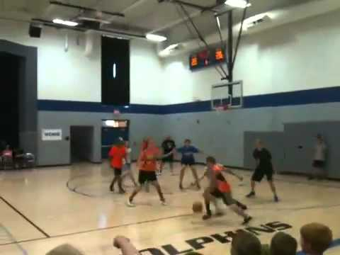 Friess lake school 2012 staff V.S. students b-ball gam