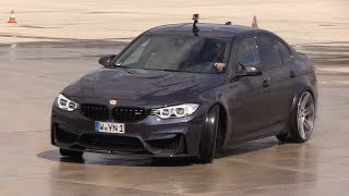 Bmw m3 f80 '30 jahre' manhart mh3 550 trying to drift!